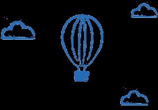 イラスト:気球